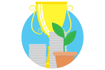 Financial success vector icon