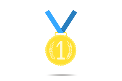 Golden medal, first place icon