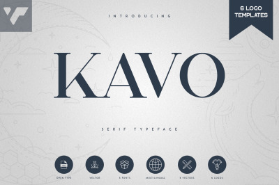 Kavo Serif Typeface   5 weights