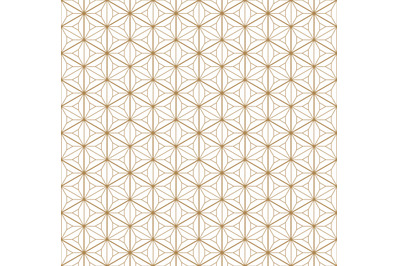 Seamless japanese pattern shoji kumiko in golden.Diamonds grid.