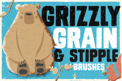 Grizzly Grain & Stipple Shader Brushes