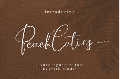 Peach Cuties ~ Luxury Signature Font