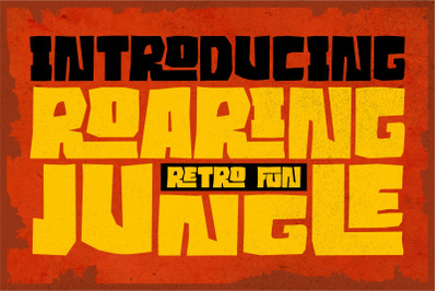 Roaring Jungle //RETRO FONT//