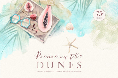 PICNIC IN THE DUNES Watercolor set