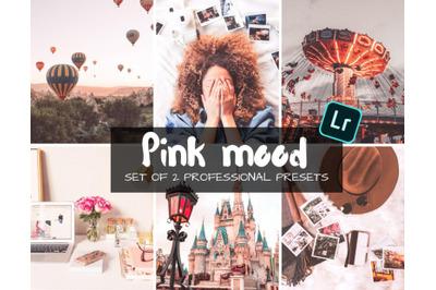 PINK MOOD MOBILE & DESKTOP LIGHTROOM PRESETS   Blogger presets
