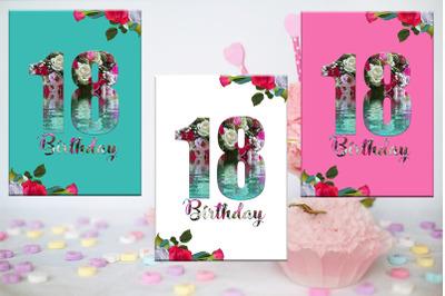 18th Birthday Card, Birthday Girl, Flowers Card, Girl