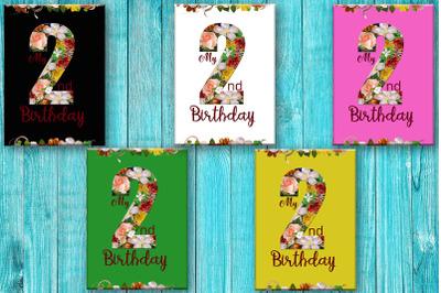 Second Birthday Card, Happy Birthday, 2nd Birthday
