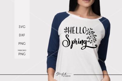 hello spring,  Spring SVG ,Easter Svg, DXF File
