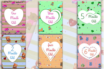 Printable Baby Milestone Cards - First Year Milestone