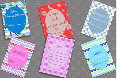 Baby Milestone Card - Baby Shower Gift, baby boy,girl