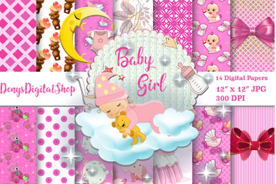 Baby Shower, Baby Girl, Baby Papers, Scrapbooking