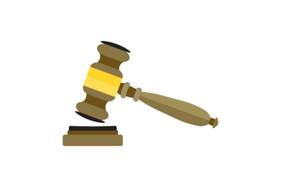 Gavel flat vector