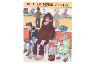 Bigfoot at the DMV