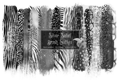 Silver Safari Brush Strokes
