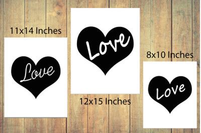 Heart Print, Love Quote Print,Love Print,Heart Poster,