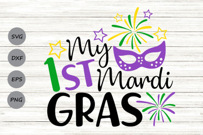 My 1st Mardi Gras Svg, Mardi Gras Svg, Newborn Baby Svg.