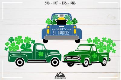 St Patricks Vintage Truck Svg Design