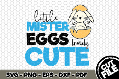 Little Mister Eggs-tremely Cute SVG Cut File n189