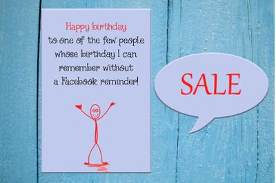 Funny Happy Birthday Card, Greeting card,Interesting