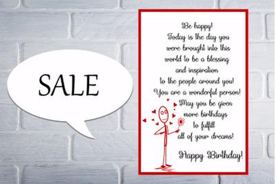 Lovely Birthday Card, Happy Birthday Card, Creative