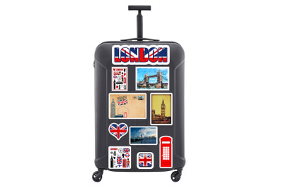 Travel Sticker, Decorative Sticker, London, Suitcase