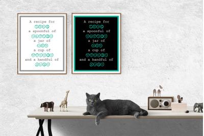 Mock ups, Poster quotes, Digital Wallpaper, Wall art