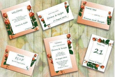 Rose Wedding Invite Cards, invitations, wedding day