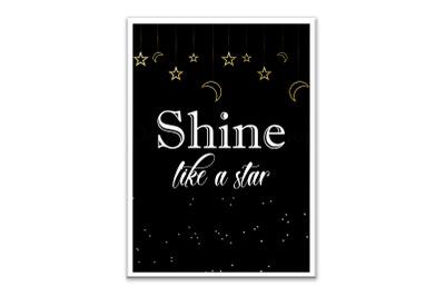 Digital Poster,Mock Ups,Shine Like a Star,Digital Download