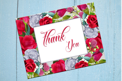 Thank You Printable Thank You Card Wedding Card Baby