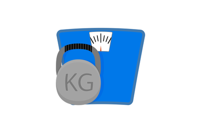 Sport concept icon. Workout and weighting conceptual, vector illustrat