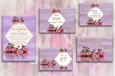 Floral Purple Wedding Invite,wedding cards,invitation