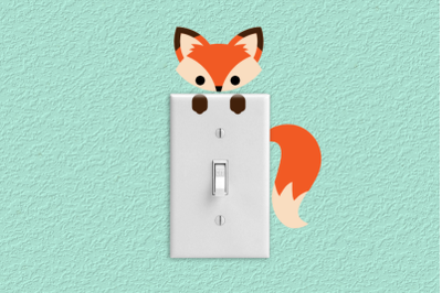 Fox Light Switch and Outlet Decoration | SVG | PNG | DXF
