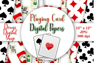 Playing Card Suits - Digital Wall, Playing Cards