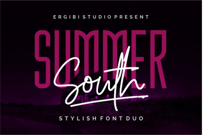 Summer South - STYLISH FONT DUO