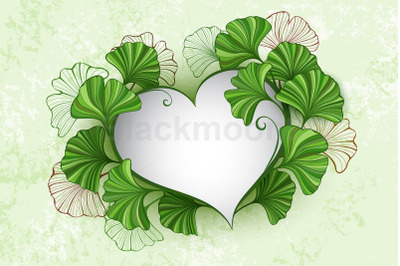 Heart with Leaves of Ginko Biloba