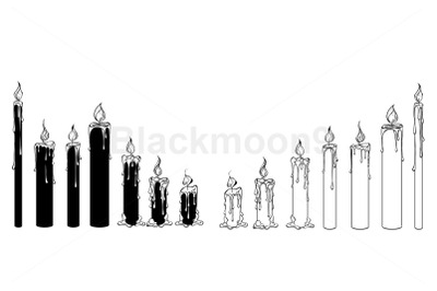Silhouette Candles