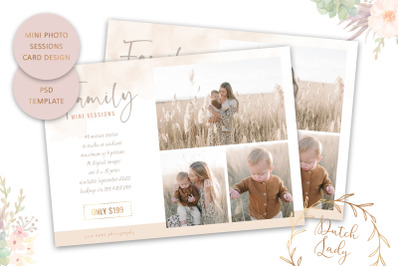 PSD Photo Session Card Template #61