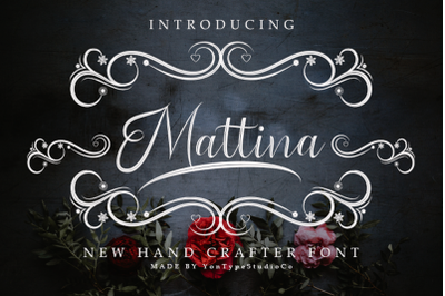 Mattina Font With Extrass