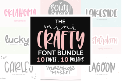 Mini Crafty Font Bundle - 10 Fonts for Crafters!