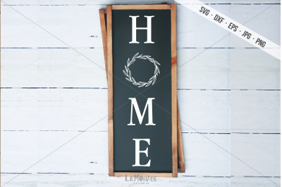 Vertical Home Cutting File, Home SVG