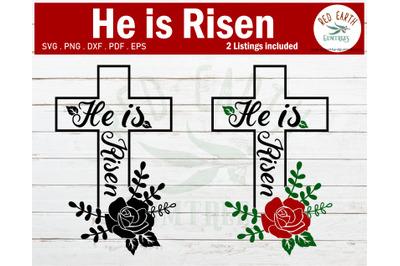 Easter He is Risen SVG, Jesus has Risen SVG,PNG,DXF,PDF,EPS