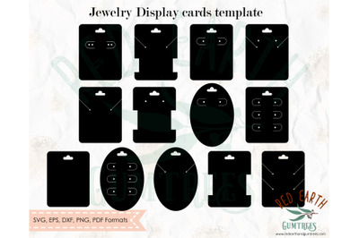 Jewelry cards template bundle SVG, Earring display card SVG,necklace