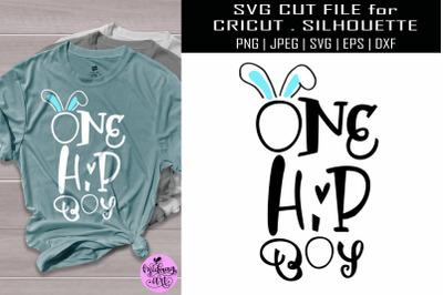 One hip boy svg, easter boy shirt svg