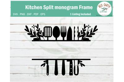 Kitchen farmhouse monogram Frame SVG,PNG,DXF,PDF,EPS