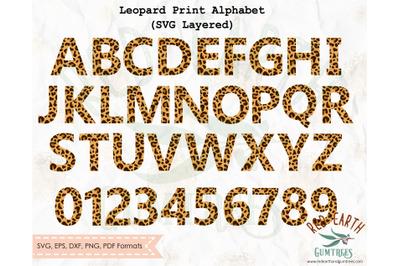 Leopard Print letters alphabet SVG,Cheetah letters alphabet SVG,PNG