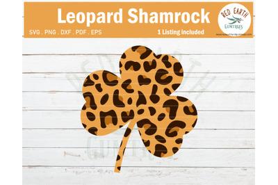 Leopard print shamrock SVG,St Patrick's day leopard shamrock SVG,PNG