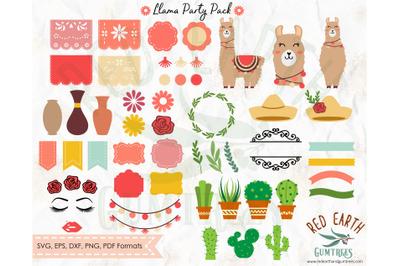 BIG Llama bundle Pack,llama,papel de picado,banner SVG,PNG,DXF,PDF,EPS