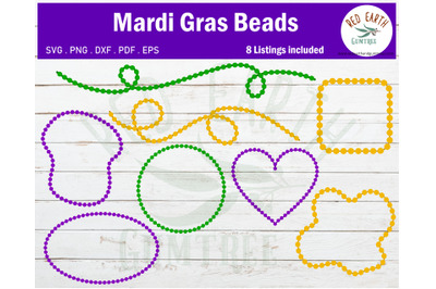 Mardi Gras beadds bundle SVG, Carnival beads svg,PNG,DXF,PDF,EPS