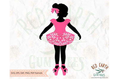 Swirly skirt ballerina SVG,Girl Ballet dancer SVG,ballerina tutu dress
