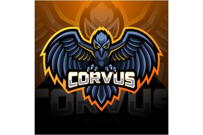 Raven esport mascot logo design